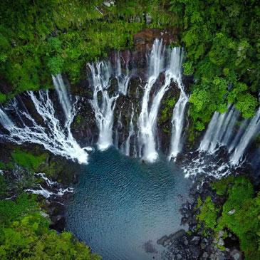 Cascade Langevin à La Réunion dans le Sud