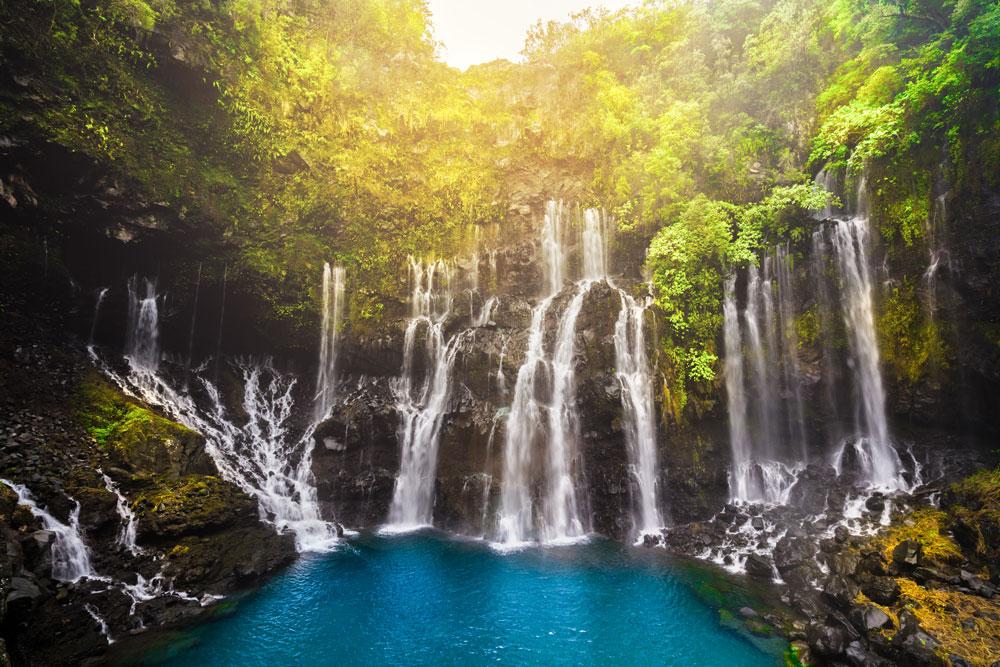 Rivière langevin à l'île de La Réunion