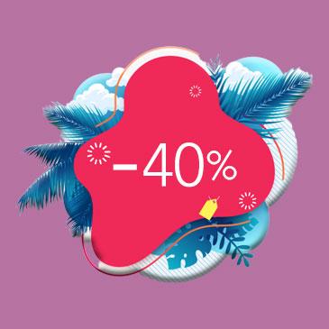 -40% sur la location saisonnière pour toutes réservations de 7 nuits minimum.