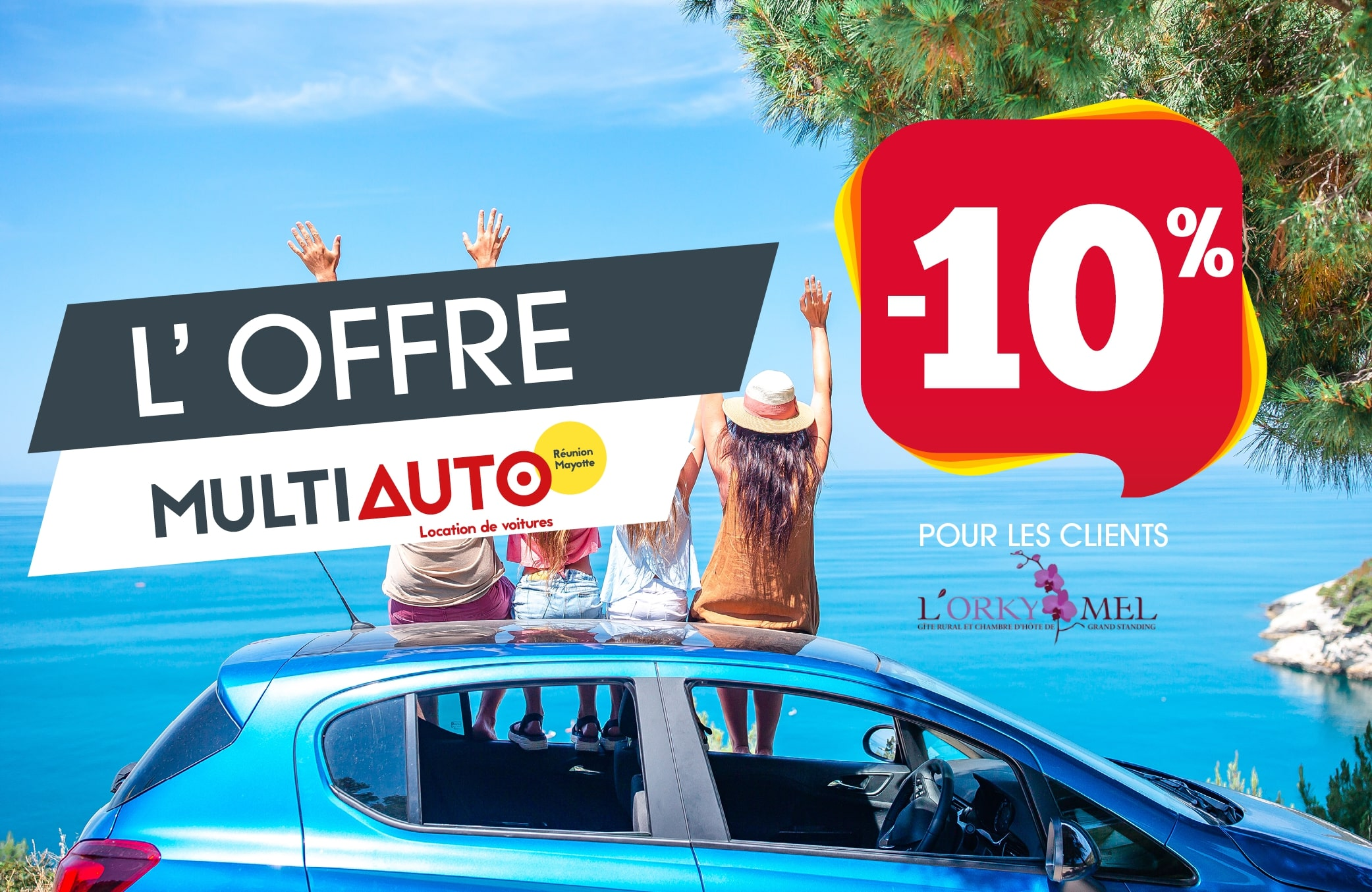 Promo location voiture Réunion Orkymel